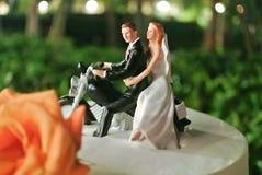 Gâteau de mariage de mastic Photo libre de droits