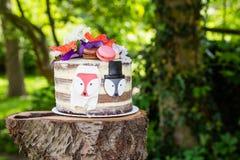 Gâteau de mariage de nature Image libre de droits