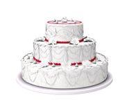 Gâteau de mariage doux Images stock