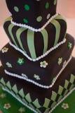 Gâteau de mariage fou de chapelier image libre de droits