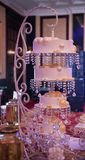 Gâteau de mariage de luxe Photo libre de droits