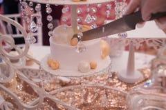 Gâteau de mariage de luxe Photos stock