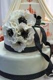 Gâteau de mariage particulièrement décoré. Détail 9 Photo libre de droits