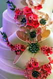 Gâteau de mariage particulièrement décoré. Détail 33 Photographie stock libre de droits