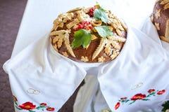 Gâteau de mariage russe Photographie stock