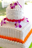 Gâteau de mariage tropical Photo stock