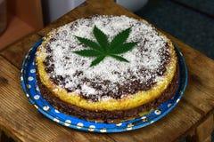 Gâteau de marijuana Photographie stock