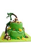Gâteau de massepain Photographie stock libre de droits