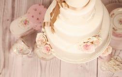 Gâteau de massepain Photo libre de droits