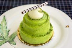 Gâteau de Matcha Images stock