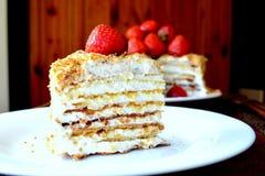 Gâteau de Medovik Photos stock