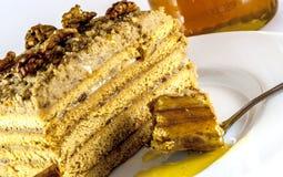 Gâteau de miel Photo stock