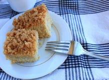 Gâteau de miette de café Images libres de droits