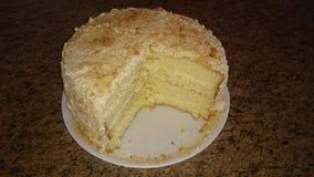 Gâteau de Milktart Images libres de droits