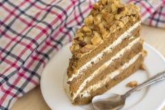 Gâteau de moka de caramel Photos libres de droits