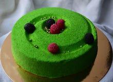 Gâteau de mousse Images libres de droits