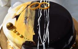 Gâteau de mousse Images stock