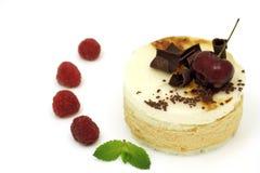 Gâteau de mousse avec des fruits Photographie stock