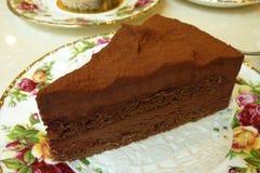 Gâteau de mousse de chocolat Images libres de droits
