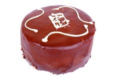 Gâteau de mousse de chocolat photo stock