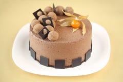 Gâteau de mousse de chocolat image libre de droits
