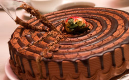 Gâteau de mousse de chocolat Photo stock
