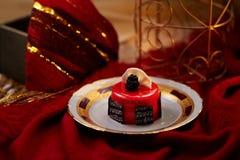 Gâteau de mousse de fraise Photos libres de droits