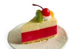 Gâteau de mousse de fraise photographie stock