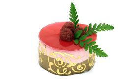 Gâteau de mousse de framboise Photo libre de droits
