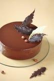 Gâteau de mousse de noisette de chocolat Images stock