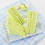 Gâteau de mousseline de soie vert Photos stock