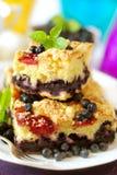Gâteau de myrtille Images stock