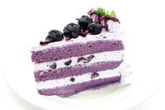 Gâteau de myrtille Photographie stock libre de droits
