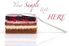 Gâteau de myrtille Image libre de droits