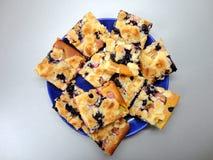 Gâteau de myrtille Photos stock