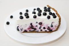 Gâteau de myrtille Photographie stock