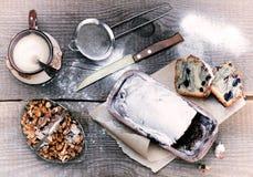 Gâteau de myrtille Photo stock