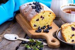 gâteau de myrtille Image stock