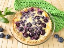 Gâteau de myrtille avec du sucre en poudre images libres de droits