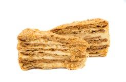 Gâteau de napoléon Image stock
