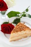 Gâteau de Napoleon Images libres de droits