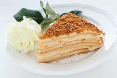 Gâteau de Napoleon Photo libre de droits