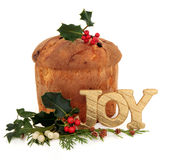 Gâteau de Noël de Pantettone Photo libre de droits