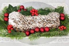 Gâteau de Noël de Stollen Photos libres de droits