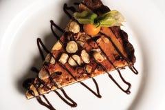 Gâteau de noix Photographie stock libre de droits
