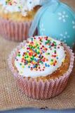 Gâteau de Pâques avec la décoration de vacances photographie stock libre de droits