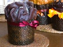 Gâteau de Pâques avec la glaçure de chocolat photo libre de droits