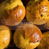 Gâteau de Pâques handmade Tradition nationale ukrainienne Vue supérieure images libres de droits
