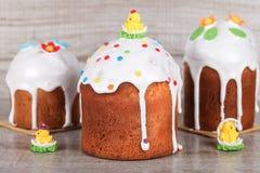 Gâteau de Pâques sur un fond clair Image stock
