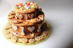 gâteau de pain d'épice d'anniversaire Photographie stock